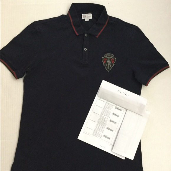 bad09ce605c Gucci Other - Gucci Equestrian crest Mens polo Sz XXXL Navy Blue